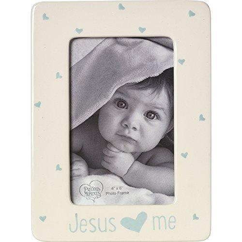 - Precious Moments,  Jesus Loves Me, Ceramic 4 x 6 Photo Frame, Boy, 164463