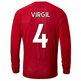 LDFN Virgil Van Dijk # 4 Vêtements de Sport Football Masculin - Manches Longues, Sport T-Shirt Jersey Fan Shirt