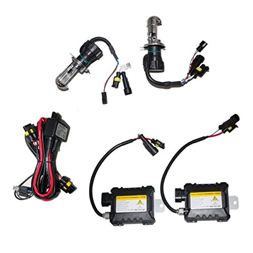 HELIO HID H4BI 10K - Bixenon HID Headlight Kit High Intensity Discharge for Cars Lights Bulbs and Lamps Kit