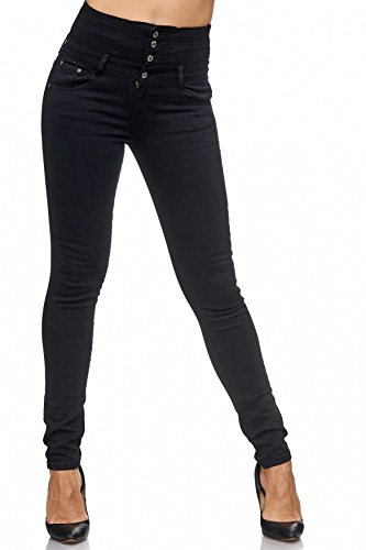 Stretch Donna Nero tubo Jeans A Bassa D1943 Vita Pantaloni Marilyn ppwdvrBx