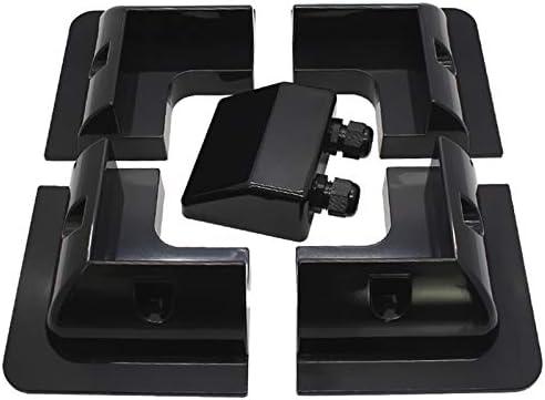 Nrpfell 5 Teile/Satz Rahmen Solar Modul Eck Montage ABS Halterung Kit Wohnmobil Wohnwagen RV Boot Solar Panel St?Nder Schwarz
