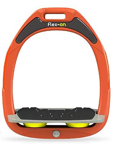 【 限定】フレクソン(Flex-On) 鐙 ガンマセーフオン GAMME SAFE-ON Mixed ultra-grip フレームカラー: オレンジ フットベッドカラー: グレー エラストマー: イエロー 08825   B07KMNVY2C