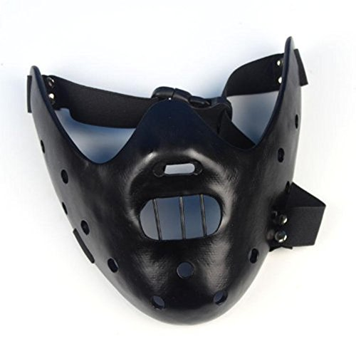 Gmasking Resin Hannibal Lecter Mask Replica(black)+Gmask Keychain