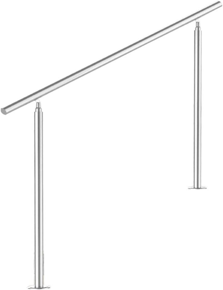 L/änge:100 cm;Anzahl Streben:4 Treppengel/änder Edelstahl Handlauf Gel/änder Balkongel/änder Aufmontage Treppe