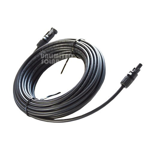 Solar Panel Cable 30 Ft - Mc4 Pv Extension- 10 AWG - 600vdc- Pv Wire - Sunlight Resistant by Global solar supply