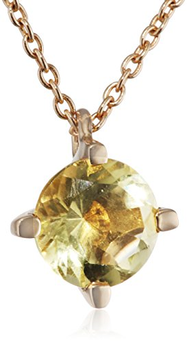 Dinny Hall - GSP0080-14Y-LQ - Collier Femme - Or Jaune 585/1000 (14 Cts) 2.66 Gr - Lemon-Lima Quartz
