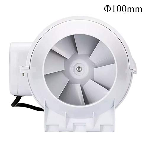 Duct Fan Mixed Flow Inline 97 mm, Duct Extractor Fan Industry Ventilaltion Fan for Bathroom, Office, Hotel, Hall, Hydroponic, Air Volume: 198m³/h, 26W
