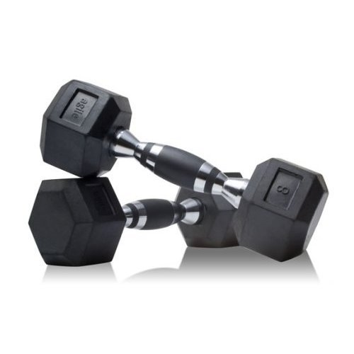 UPC 899608001201, 15lb Hex Dumbbell Pair - Rubber Grip Inlay - Chrome Finish