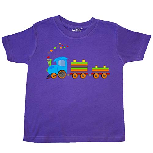 inktastic - Colorful Toy Train Toddler T-Shirt 2T Purple 197b8