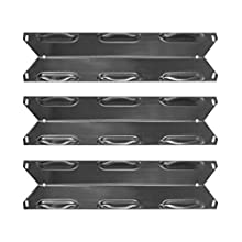 Hongso 14 7/8 Inch Porcelain Steel Gas Grill Heat Shield, Heat Tent, Burner Cover Replacement for Kenmore 146.23678310 146.23679310 640-05057371-6 640-05057373-6, 3-Pack (PPF231)