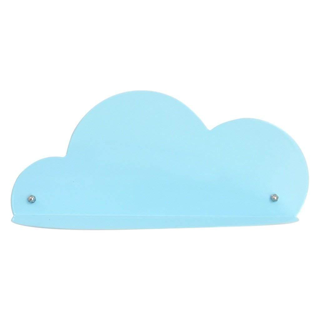 MARGUERAS 1PCS Cloud Shelf Metal for Children Living Room Wall Decor Gift (Blue)