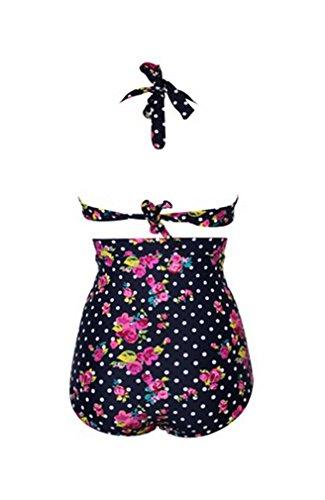 Retro Cutest Swimsuit Swimwear Vintage Pin up High Waist Bikini Set