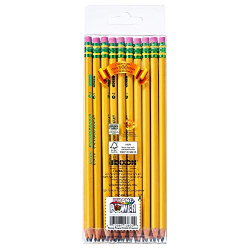Ticonderoga Wood-Cased Graphite Pencils, 2 HB Soft, Pre-Sharpened, Yellow, 30 Count (13830), 5 Pack by Dixon (Image #2)