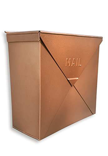 NACH MB-6300 Chicago Copper Mailbox - Wall Mounted Post Box, 10 x 4 x 10 inch (Mailbox Copper)