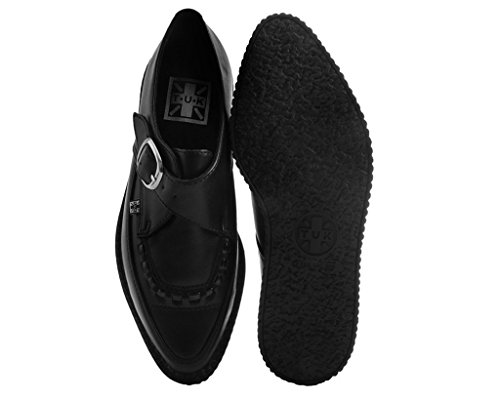 Chaussures Tuk A9324 Creepers Unisexe Adulte, Noir Tukskin Souligné Boucle Creeper