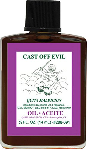 (3Pack) Indio Products Spiritual Anointing Oil- CAST OFF EVIL - Cast Botanica
