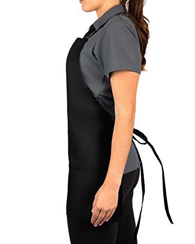 KNG Pack Of 2 - Black Adjustable Bib Apron - 3 Pocket by KNG (Image #2)