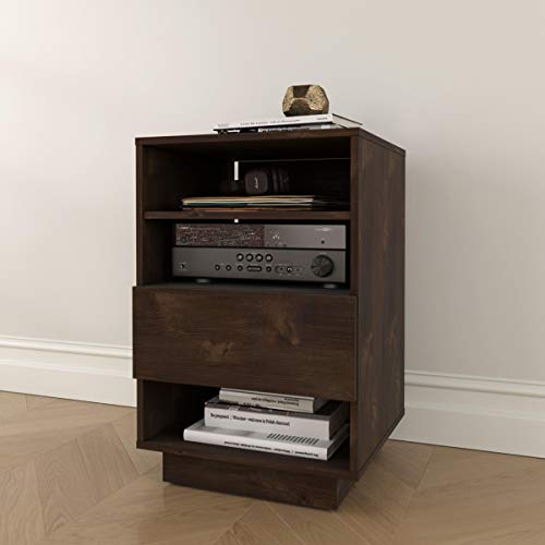 Nexera 105261 Stereo, Truffle Audio Tower (Wood Component)