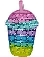 Pop It Fidget Toy Bubble Brinquedo Sensorial Milk Shake