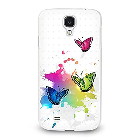 Handyhülle für Samsung Galaxy S4 Mini ( Schmetterlinge ) - Hülle - Schutzhülle mit Motiv - TPU Silikon Hülle - Case - Cover -