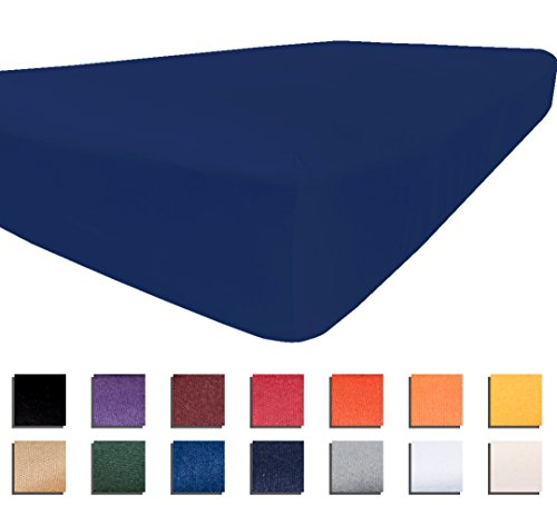 University College Colors - Mix and Match - Dorm Bedding Separates - Microfiber (Twin XL Fitted Sheet - Dk Blue)
