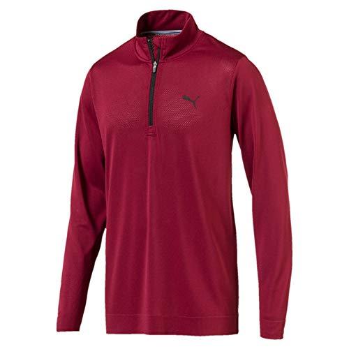 Puma Men's Evoknit Essential 1/4 Zip Sweatshirt, Pomegranate, L