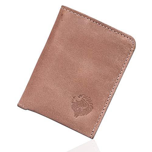 Louis Pelle Leather Minimalist Wallet RFID Blocking Bifold Slim ()
