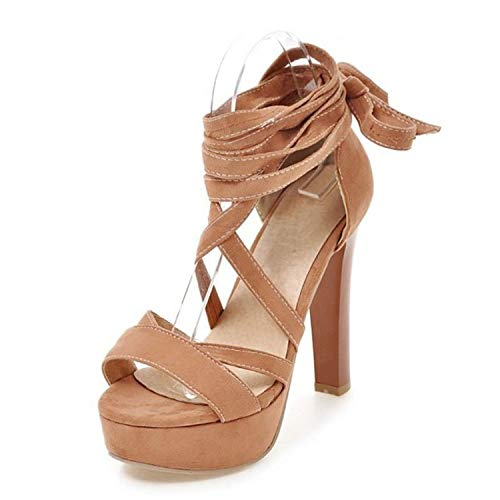- High Heel Sandals Platform Lace Up Spike Heel Sandals Summer Shoes Women Sandals,Ivory,10