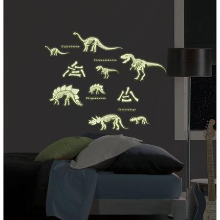 Amazon.com: DINOSAURS 24 BiG Wall Stickers Glow in the Dark ...