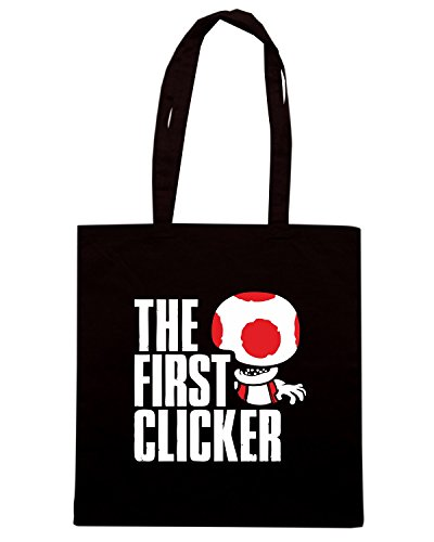 T-Shirtshock - Bolsa para la compra TGAM0073 The First Clicker Negro