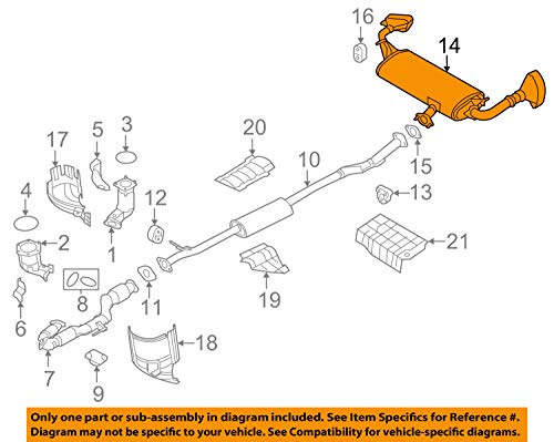 Nissan 20100-5AA2A Muffler Assembly-Exhaust,Main by Nissan (Image #3)