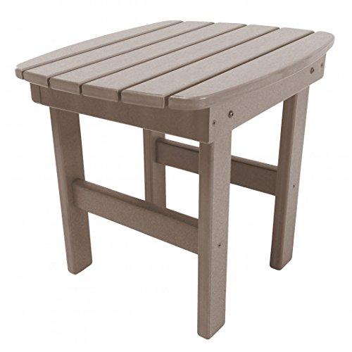 Original Pawleys Island ST1WW Durawood Outdoor Side Table, Weatherwood - Table Sofa Adirondack