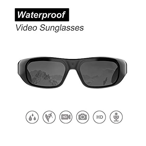 OHO sunshine Waterproof Video Sunglasses, 1080P HD Outdoor Sports Action Camera with Built-in Memory and Polarized UV400 Protection Safety Lenses,Unisex Sport Design - 41s4BHKY bL - OHO sunshine Waterproof Video Sunglasses, 1080P HD Outdoor Sports Action Camera with Built-in Memory and Polarized UV400 Protection Safety Lenses,Unisex Sport Design