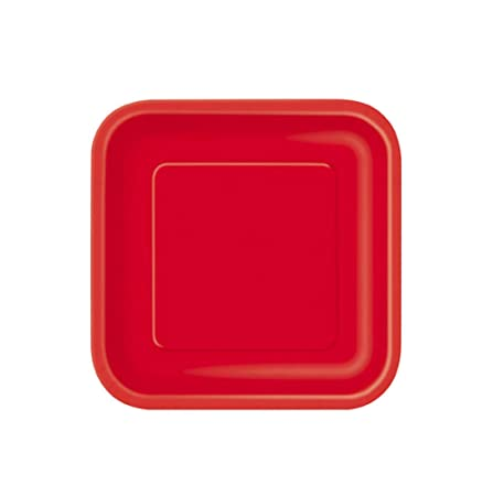 takestop® - Platos de Papel Cuadrados, 20 x 23 x 1 cm ...