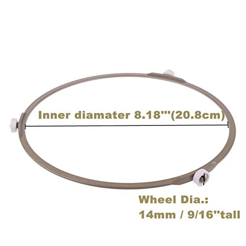 Good News Microwave Oven Inner Dia 8.2Inch Turntable Rotating Turntable Support Roller Ring 2PCS//Brown