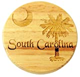 Cheap South Carolina Flag Wooden Bottle Opener and Fridge Magnet Made in the USA 2 1/2 Inch