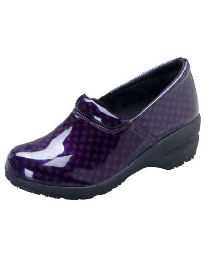Cherokee Footwear PATRICIA Women's Step In Shoe Purple Patent Check 9 M US (Cherokee Check)