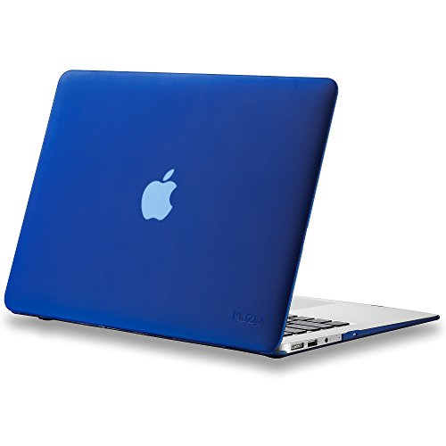 "Kuzy AIR 13-inch NAVY BLUE Rubberized Hard Case for MacBook Air 13.3"" (A1466 & A1369) (NEWEST VERSION) Shell Cover - Navy Blue"