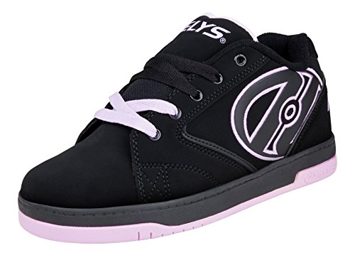 Heelys Boys' Propel 2.0 Sneaker, Black/Bright Yellow, 3