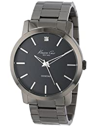 "Kenneth Cole New York Men's KC9286 ""Rock Out"" Stainless Steel Diamond-Accented Watch"