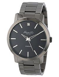 Kenneth Cole New York Men's KC9286 Rock Out Black Dial Diamond Dial Analog Bracelet Watch