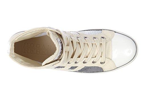 Hogan Rebel Chaussures Baskets Sneakers Hautes Femme en Daim r141 Rebel Vintage HPC5ILp6