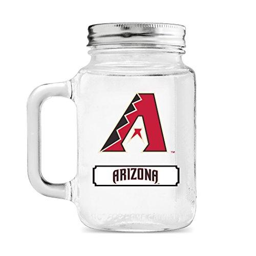 MLB Arizona Diamondbacks 20oz Glass Mason Jar ()