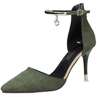 Vert Aiguille à cm LvYuan Eté Cachemire 5 Beige 7 5 Creuse 9 Rose ggx Chaussures Talons Femme green à Noir Marche Talon qTOwvq