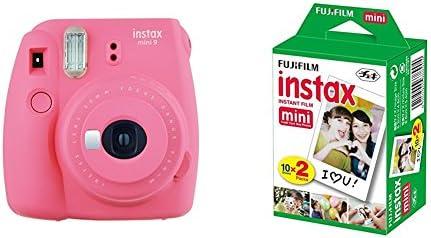 Fujifilm Instax Mini 9 - Cámara instantánea, Cámara con 2x10 películas, Rosa: Amazon.es: Electrónica