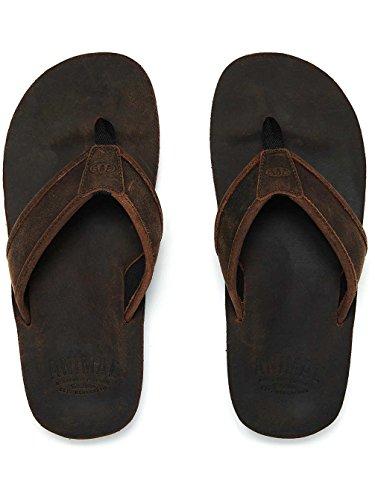 Brown Fm8sn014 Sandals 12 Toe Leather 198 eu Post Beach Mens 47 uk Jekyl Animal Flip Flops tqBnfFzv