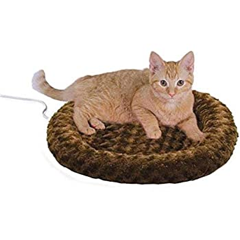 "K&H Pet Products Thermo-Kitty Fashion Splash Heated Pet Bed Mocha 18"" 4W"