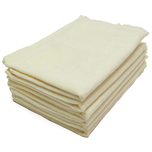 Towel 11x18 Fingertip Fringed - 6 Pack - 11x18 Terry Velour Fingertip Towels W/fringed Ends 1.5# (BEIGE - BE1118-F-6PK)