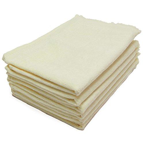 Fringed Fingertip Towel 11x18 - 6 Pack - 11x18 Terry Velour Fingertip Towels W/fringed Ends 1.5# (BEIGE - BE1118-F-6PK)