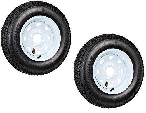 Sizes Trailer Wheel - 2-Pack Trailer Tire On Rim ST175/80D13 175/80 D 13 Load C 4 Lug White Spoke